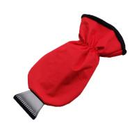 Autoškrabka s červenou rukavicí