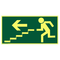 Fotoluminiscenční únikové schodiště - vlevo dolů