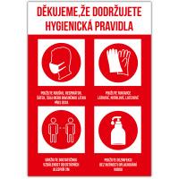 Hygienická pravidla - červená