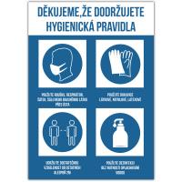 Hygienická pravidla - modrá