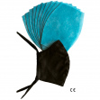 NANO MED.CLEAN - 1x Bavlněná rouška + 10x nanofiltr - černá