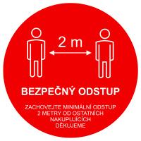 Podlahové značení - Bezpečný odstup - text