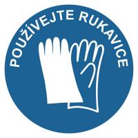 Používejte rukavice - modrá