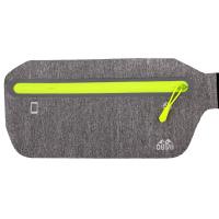 Sportovní ledvinka - šedá žíhaná s reflexním proužkem